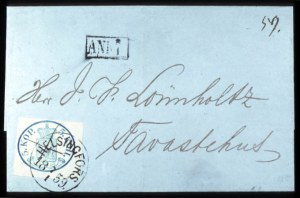 Sale Number 767, Lot Number 460, General ForeignFINLAND, 1856, 5k Blue (3), FINLAND, 1856, 5k Blue (3)