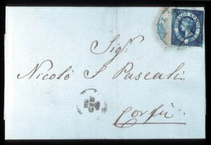 Sale Number 767, Lot Number 470, General ForeignIONIAN ISLANDS, 1859, (1p) Blue (2), IONIAN ISLANDS, 1859, (1p) Blue (2)