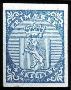 Sale Number 767, Lot Number 476, General ForeignNORWAY, 1855, 4s Blue (1), NORWAY, 1855, 4s Blue (1)