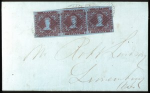 Sale Number 767, Lot Number 479, General ForeignNOVA SCOTIA, 1853, 1p Red Brown on Bluish (1), NOVA SCOTIA, 1853, 1p Red Brown on Bluish (1)