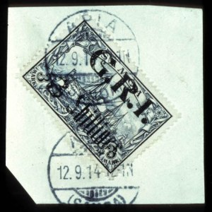 Sale Number 767, Lot Number 484, General ForeignSAMOA, 1914, 5sh on 3m G.R.I. Surcharge (112, SG 113), SAMOA, 1914, 5sh on 3m G.R.I. Surcharge (112, SG 113)