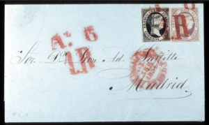 Sale Number 767, Lot Number 488, General ForeignSPAIN, 1851, 6c Black, 12c Lilac (6, 7), SPAIN, 1851, 6c Black, 12c Lilac (6, 7)