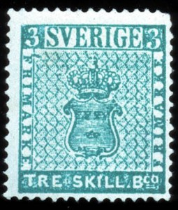 Sale Number 767, Lot Number 490, General ForeignSWEDEN, 1855, 3s Blue Green (1, Facit 1c), SWEDEN, 1855, 3s Blue Green (1, Facit 1c)