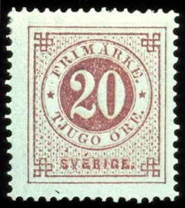 Sale Number 767, Lot Number 496, General ForeignSWEDEN, 1876, 20ö Vermilion, Double Impression (23b, Facit 23c), SWEDEN, 1876, 20ö Vermilion, Double Impression (23b, Facit 23c)