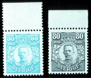 Sale Number 767, Lot Number 499, General ForeignSWEDEN, 1918, 55ö, 80ö Gustaf V (90, 92; Facit 92, 94), SWEDEN, 1918, 55ö, 80ö Gustaf V (90, 92; Facit 92, 94)