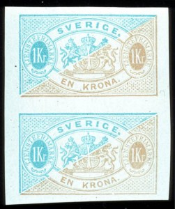 Sale Number 767, Lot Number 501, General ForeignSWEDEN, 1874, 3ö-1k Official, Imperforate (O1a-O11a, Facit TJ1v1-TJ10v), SWEDEN, 1874, 3ö-1k Official, Imperforate (O1a-O11a, Facit TJ1v1-TJ10v)