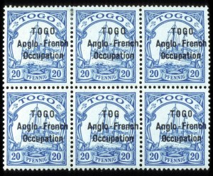 "Sale Number 767, Lot Number 505, General ForeignTOGO, 1914, 20pf Overprint, ""TOG"" for ""TOGO"" Variety (51a, SG H17a), TOGO, 1914, 20pf Overprint, ""TOG"" for ""TOGO"" Variety (51a, SG H17a)"
