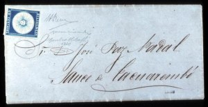 Sale Number 767, Lot Number 508, General ForeignURUGUAY, 1857, 60c Blue (3B), URUGUAY, 1857, 60c Blue (3B)