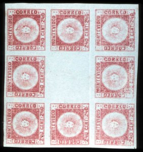 Sale Number 767, Lot Number 508A, General ForeignURUGUAY, 1858, 240c Dull Vermilion (6), URUGUAY, 1858, 240c Dull Vermilion (6)