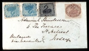 Sale Number 767, Lot Number 510, General ForeignWESTERN AUSTRALIA, 1854, 1p Black, 4p Blue, 1sh Pale Brown (1, 3, 5), WESTERN AUSTRALIA, 1854, 1p Black, 4p Blue, 1sh Pale Brown (1, 3, 5)