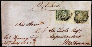 Sale Number 770, Lot Number 4166, 1850, 2p Dull Blue, Pl. II Late (SG 25; Sc. 5)
