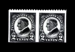 Sale Number 771, Lot Number 1645, Pan-American thru Later Issues2c Harding, Horizontal Pair, Imperf Vertically (610a), 2c Harding, Horizontal Pair, Imperf Vertically (610a)
