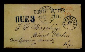 Sale Number 772, Lot Number 3031, Southern ExpressesSOUTHERN LETTER UNPAID, SOUTHERN LETTER UNPAID