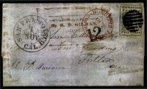 Sale Number 776, Lot Number 35, HawaiiHAWAII, 1851, 5c Blue (2), HAWAII, 1851, 5c Blue (2)
