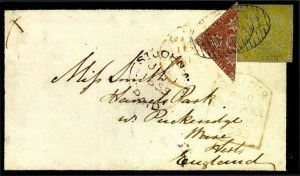 Sale Number 776, Lot Number 41, New BrunswickNEW BRUNSWICK, 1851, 3p Dull Red, Half Used as 1-1/2p (1b; SG 2a), NEW BRUNSWICK, 1851, 3p Dull Red, Half Used as 1-1/2p (1b; SG 2a)