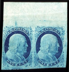 Sale Number 777, Lot Number 43, 1851-56 Issue1c Blue, Ty. II-IV (7-9), 1c Blue, Ty. II-IV (7-9)