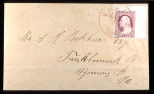 Sale Number 777, Lot Number 45, 1851-56 Issue3c Rose Red (11), 3c Rose Red (11)