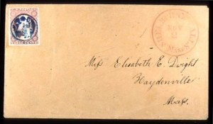 Sale Number 777, Lot Number 46, 1851-56 Issue3c Rose Red (11), 3c Rose Red (11)