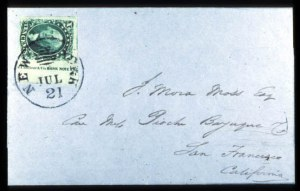 Sale Number 777, Lot Number 51, 1851-56 Issue10c Green, Ty. II (14), 10c Green, Ty. II (14)