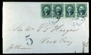 Sale Number 777, Lot Number 52, 1851-56 Issue10c Green, Ty. III (15), 10c Green, Ty. III (15)