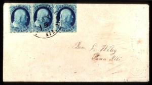 Sale Number 777, Lot Number 55, 1857-60 Issue1c Blue, Ty. Ia (19), 1c Blue, Ty. Ia (19)