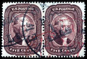 Sale Number 777, Lot Number 61, 1857-60 Issue5c Indian Red (28A), 5c Indian Red (28A)