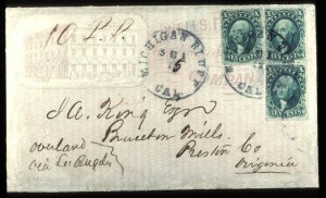 Sale Number 777, Lot Number 69, 1857-60 Issue10c Green, Ty. I, III (31, 33), 10c Green, Ty. I, III (31, 33)