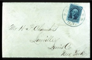 Sale Number 777, Lot Number 71, 1857-60 Issue10c Green, Ty. IV (34), 10c Green, Ty. IV (34)