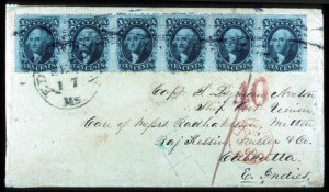 Sale Number 777, Lot Number 72, 1857-60 Issue10c Green, Ty. V (35), 10c Green, Ty. V (35)