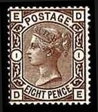 Sale Number 778, Lot Number 510, Great Britain1876, 8p Brown Lilac (72, SG 156a), 1876, 8p Brown Lilac (72, SG 156a)