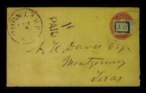 Sale Number 779, Lot Number 376, Confederate Postmasters ProvisionalsHorn Lake, Miss. Oct. 8, Horn Lake, Miss. Oct. 8