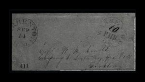 Sale Number 779, Lot Number 411, Confederate Postmasters ProvisionalsWarrenton Ga., 10c on 5c Black Entire (89XU2), Warrenton Ga., 10c on 5c Black Entire (89XU2)