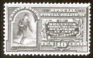 Sale Number 783, Lot Number 1280, U.S. Possessions1899, 10c Special Delivery, Specimen Ovpt. (E1S), 1899, 10c Special Delivery, Specimen Ovpt. (E1S)