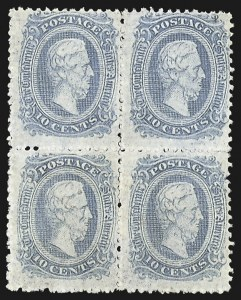 Sale Number 795, Lot Number 1203, Official and Private Perforations10c Blue, Die A, Perforated (11e), 10c Blue, Die A, Perforated (11e)