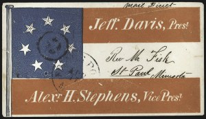 Sale Number 795, Lot Number 1212, Patriotic CoversFriar's Point Miss. Apr. 17 (1861), Friar's Point Miss. Apr. 17 (1861)