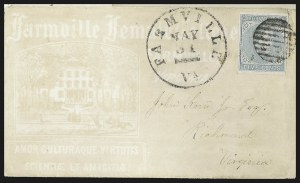 Sale Number 795, Lot Number 1292, College Covers5c Light Blue, De La Rue (6), 5c Light Blue, De La Rue (6)