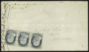 "Sale Number 795, Lot Number 35, Key Dates of the Confederacy""Henderson's Mills Tn June 24th"" - Day of Tennessee Secession Ratification, ""Henderson's Mills Tn June 24th"" - Day of Tennessee Secession Ratification"