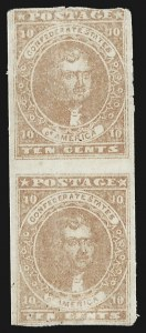 Sale Number 795, Lot Number 752, General Issues  Scott Nos. 1-510c Pale Brown Rose (5), 10c Pale Brown Rose (5)
