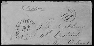 Sale Number 801, Lot Number 104, C.S.A. Post Offices in KentuckyBowling Green Ky. Jan. 21 (1862), Bowling Green Ky. Jan. 21 (1862)