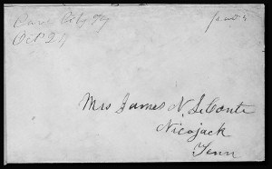 Sale Number 801, Lot Number 109, C.S.A. Post Offices in KentuckyCave City Ky. Oct. 24 (1861), Cave City Ky. Oct. 24 (1861)