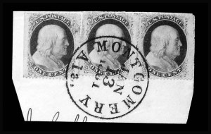Sale Number 801, Lot Number 286, Independent and C.S.A. UsagesMontgomery Ala. Jan. 13, 1861, Montgomery Ala. Jan. 13, 1861