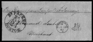 Sale Number 801, Lot Number 291, Independent and C.S.A. UsagesGreat Britain to New Orleans (Independent Statehood), Great Britain to New Orleans (Independent Statehood)