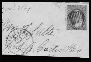 Sale Number 801, Lot Number 297, Independent and C.S.A. UsagesCharleston S.C. Feb. 27, 1861, Charleston S.C. Feb. 27, 1861