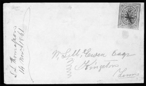 Sale Number 801, Lot Number 364, Postmasters ProvisionalsKnoxville Tenn., 5c Brick Red on Grayish Laid (47X1), Knoxville Tenn., 5c Brick Red on Grayish Laid (47X1)