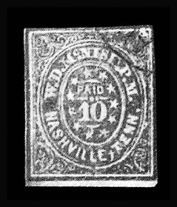 Sale Number 801, Lot Number 378, Postmasters ProvisionalsNashville Tenn., 10c Green (61X6), Nashville Tenn., 10c Green (61X6)