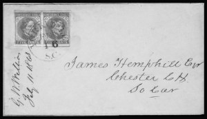 Sale Number 801, Lot Number 603, General Issues on Cover - Nos. 7 - 135c Blue, Local (7), 5c Blue, Local (7)