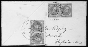 Sale Number 801, Lot Number 611, General Issues on Cover - Nos. 7 - 135c Blue, Local (7), 5c Blue, Local (7)