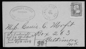 Sale Number 801, Lot Number 784, P.O.W. and Flag-of-Truce MailFort Delaware, Fort Delaware