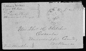 Sale Number 801, Lot Number 96, C.S.A. Post Offices in KentuckyBowling Green Ky. Dec. 13 (1861), Bowling Green Ky. Dec. 13 (1861)