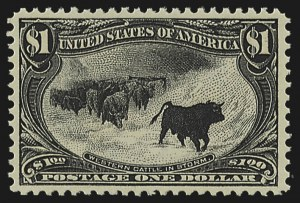 Sale Number 804, Lot Number 498, 1898 Trans-Mississippi Issue$1.00 Trans-Mississippi (292), $1.00 Trans-Mississippi (292)